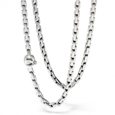 Woven chain in white gold