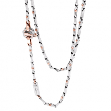 White and rosegold chain