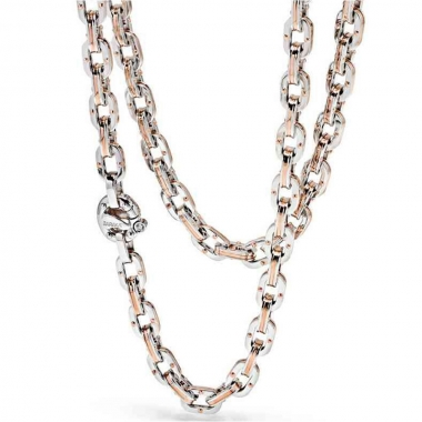 White and rose gold chain