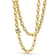 Yellow and white gold chain