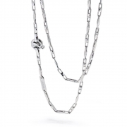A chain of links in white gold