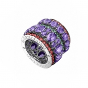 De Grisogono Melody Of Colours Ring 50638_01