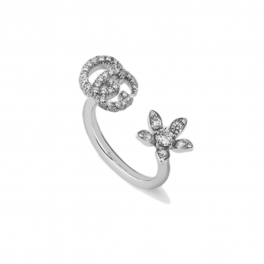 Gucci Flower and Double G Ring 582019J85409066