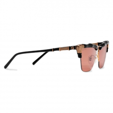 Gucci Cat-eye sunglasses with bamboo effect 610372J16911021