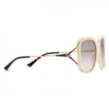 Gucci Round metal and acetate sunglasses 610396J07709217