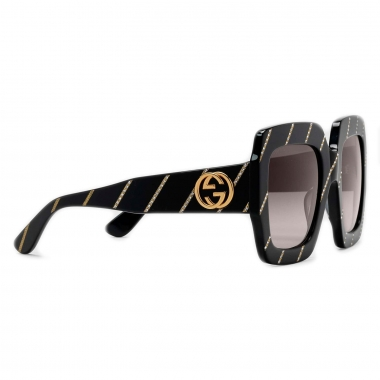Gucci Sunglasses with crystal stripes 491426J00701017