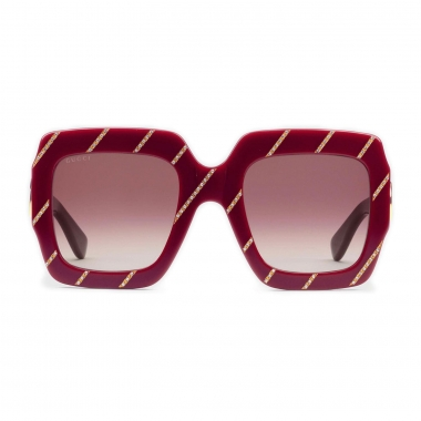 Gucci Sunglasses with crystal stripes 491426J00706164